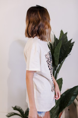 Leopard Lightning Bolt Graphic Tee Side View