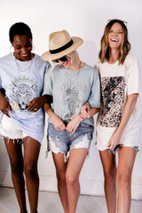 Ivory - Leopard Lightning Bolt Graphic Tee from Dress Up