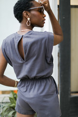 Muscle Romper Back View