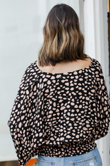 Spotted Surplice Blouse Back View