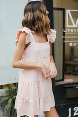 Ruffle Tiered Dress Side View