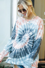 Tie-Dye Pullover Front View
