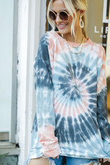 Peach - Tie-Dye Pullover from Dress Up