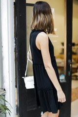 Tiered Dress in Black Side View