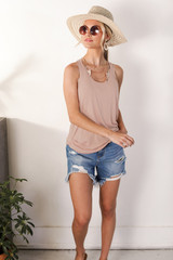 Taupe - Dress Up model wearing an Everyday Tank