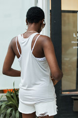 Everyday Tank in Light Grey Back View