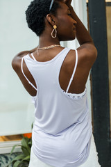 Everyday Tank in Lilac Back View
