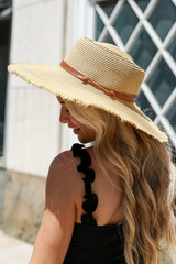 Frayed Straw Boater Hat from Dress Up