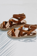 Espadrille Sandals on a white background