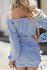 Ruched Mini Skirt Back View
