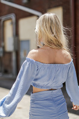 Ruched Crop Top Back View