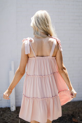 Tiered Dress in Blush Back View