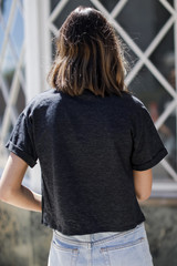 Dreamer Cropped Graphic Tee Back View