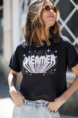 Dress Up model wearing the Dreamer Cropped Graphic Tee