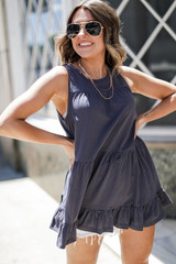 Charcoal - Tiered Tank from Dress Up