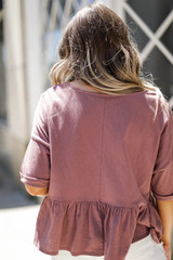 Babydoll Tee in Mauve Back View