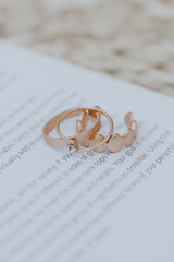 Gold - Boho Ring Set from Dress Up