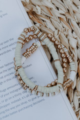Natural - Beachy Vibes Beaded Bracelet Set from Dress Up