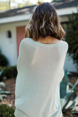 Oversized Knit Top in Mint Back View