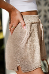 Taupe - Knit Shorts from Dress Up