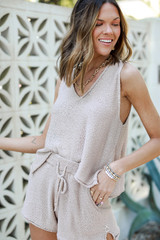 Taupe - Knit Tank