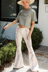 Ivory - Snakeskin Flare Jeans from Dress Up