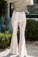 Snakeskin Flare Jeans Back View