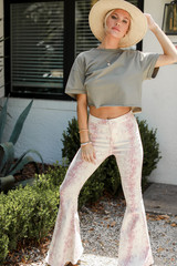 Snakeskin Flare Jeans Front View
