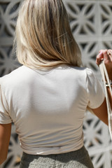 Wrap Top in Ivory Back View
