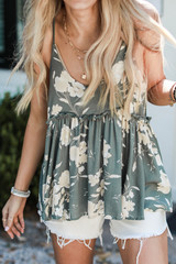 Close Up of a Floral Babydoll Tank