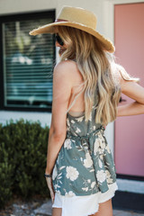 Floral Babydoll Tank Side View