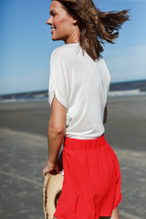 Shorts in Red Side View