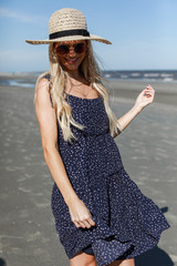 Polka Dot Tiered Dress Front View