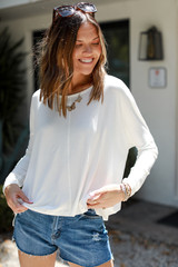 Model wearing the Everyday Long Sleeve Top