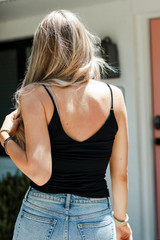 Everyday Cami Tank in Black Back View