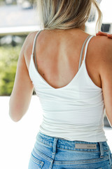 Everyday Cami Tank in White Back View