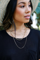 Model wearing a Gold Chain Layered Necklace