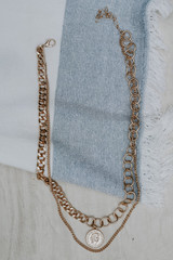 Gold - Coin Layered Necklace from Dress Up