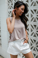Everyday Tank in Blush Side View