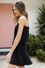 Strapless Romper Side View