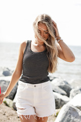 Black/White - Ribbed Tank from Dress Up