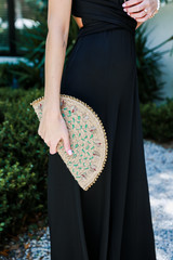 Natural - Straw Beaded Clutch