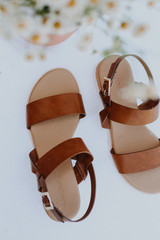 Flat Lay of Wedge Sandals