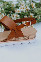 Close Up of Wedge Sandals
