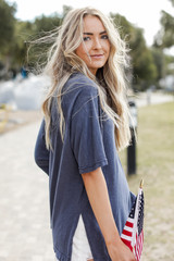 Navy - Oversized Tee from Dress Up