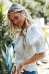 White - Smocked Blouse from Dress Up