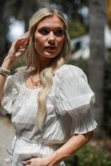 Smocked Blouse Side View
