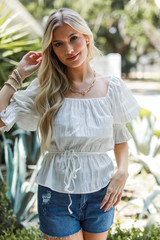 Smocked Blouse Front View