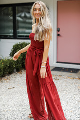Marsala - Strapless Jumpsuit from Dress Up