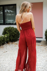 Strapless Jumpsuit Back View